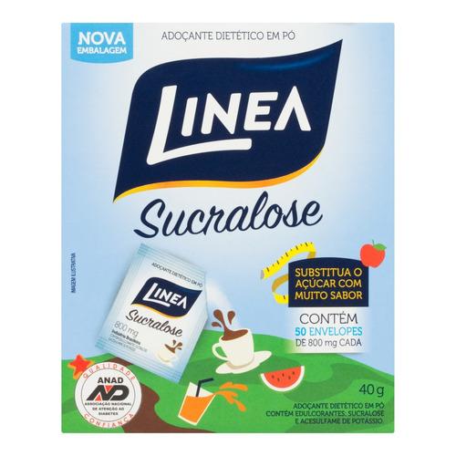 Adoçante Linea Sucralose em pó  sem glúten 40 g 50u