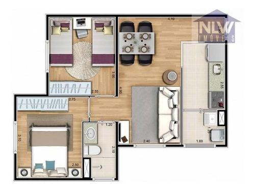 Apartamento Com 2 Dormitórios À Venda, 44 M² Por R$ 256.800,00 - Paulicéia - São Bernardo Do Campo/sp - Ap2220
