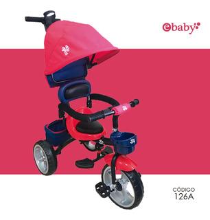 Triciclo Junior Alo Baby Con Capota Para Sol Regulable