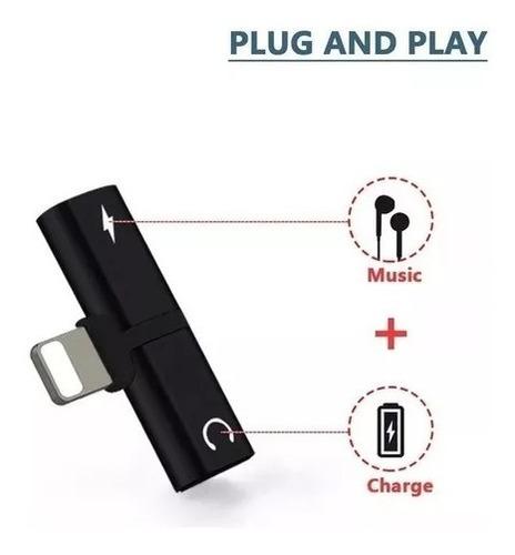 Adaptador Lightning Para Audifonos Audio Y Carga