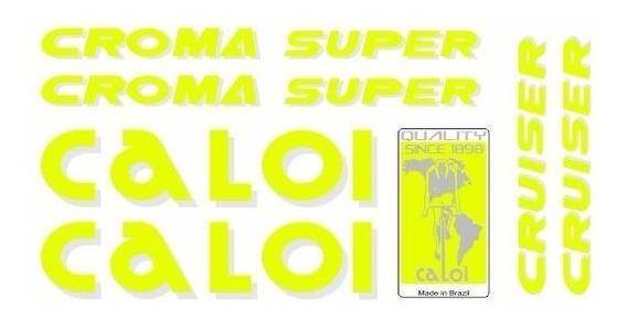 Adesivo Para Bicicleta Caloi Cruiser Croma Super Amarelo