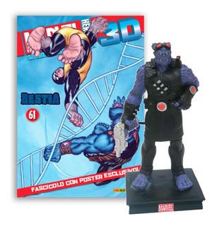 Marvel 3d Súper Héroes Figura Beast X-men #18 Panini