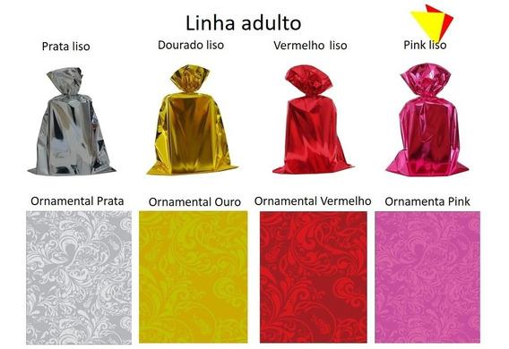 Embalagem Saco Para Presente Metalizado 30x44 C/ 100 Unid