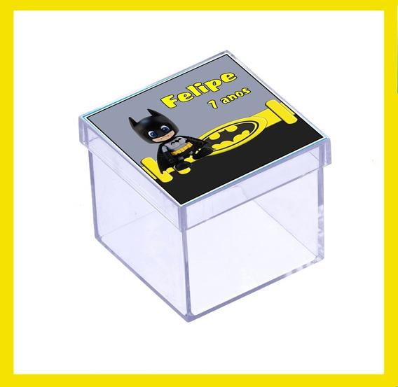 50 Caixinha Batman Lembrancinha Aniversário Tubete #