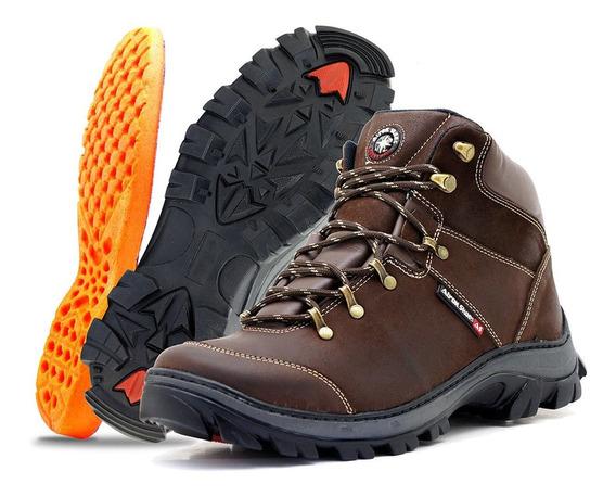 But Boot Adventure Trekking Couro Nobre Legitimo Trilha Prom