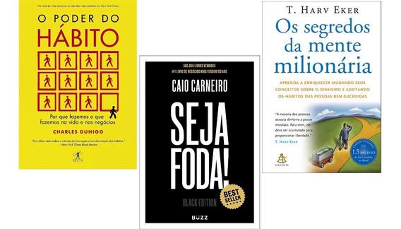 Seja Foda Black Edition Capa Dura +o Poder Do Hábito+1 Livro