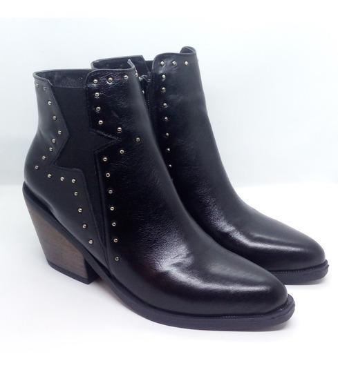 Botas Mujer Cuero Texanas Zuca Art D519 Zona Zapatos