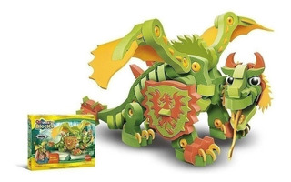 Variety Blocks 3d Dragon 155 Piezas Rompecabezas Wabro