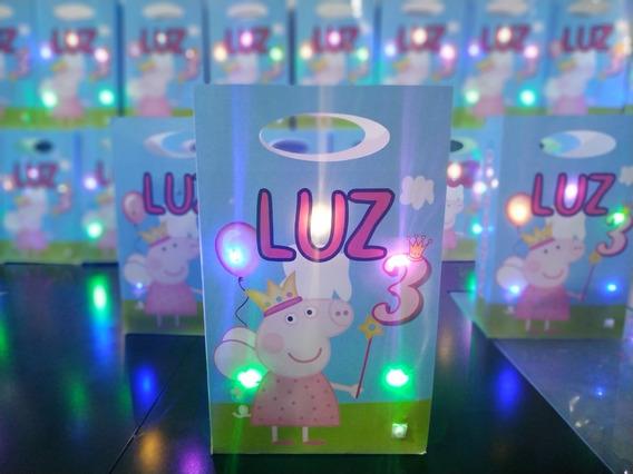 Bolsita Golosinera Personalizada Con Luces! Luminosa X 10 U.