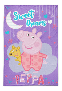 Frazada Piñata Flannel 1 1/2 plaza Peppa Pig Sweet Dreams