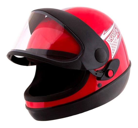 Capacete Moto Pro Tork Sport Moto 60 Vermelho