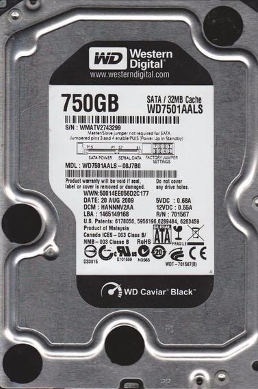 Hd Western Digital Black 7200rpm 750gb Novo Lacrado