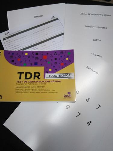 Imagen 1 de 5 de Test Tdr Test De Denominación Rápida. Predictor Habilid Lect