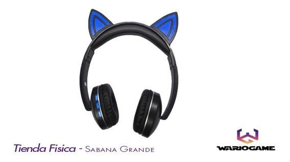Audifonos Cat Ear Wireless Bluetooth Orejas De Gato