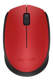 Mouse Logitech M170 rojo y negro