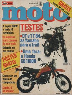 Quatro Rodas Moto N°23 Yamaha Dt180 Tt125 Honda Cb 1100r Bmw