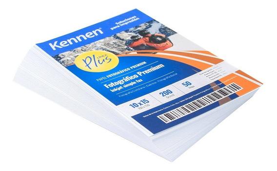 Papel Fotográfico Brillo Premium Kennen 10x15 200gr 1000 Hjs