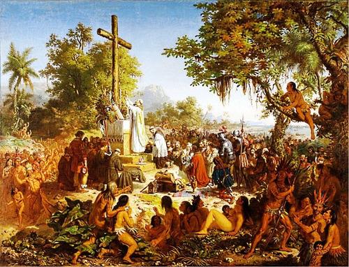 Poster Primeira Missa Do Brasil 65x85cm Para Decorar Casa