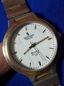 Relógio E Pulso Seculus Da Quatz Folheado A Ouro