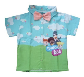 Camisa Infantil Social Temática Bita - Mundo Bita Roupafesta