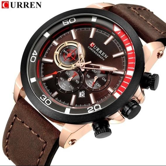 Relógio Masculino Curren Cronógrafo Funcional Oferta Nf C.22
