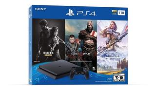Playstation 4 Slim Ps4 1tb+ 3 Juegos+ Mercadolider+tienda