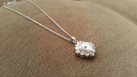 Colar Quaz Diamantes Branca 18k