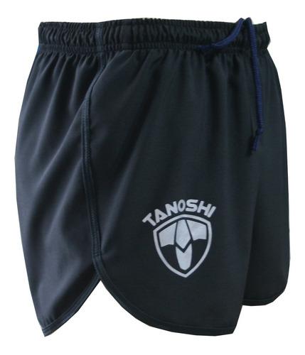 Shorts Corrida Masculino Cronom Tanoshi Preta Com Bolso