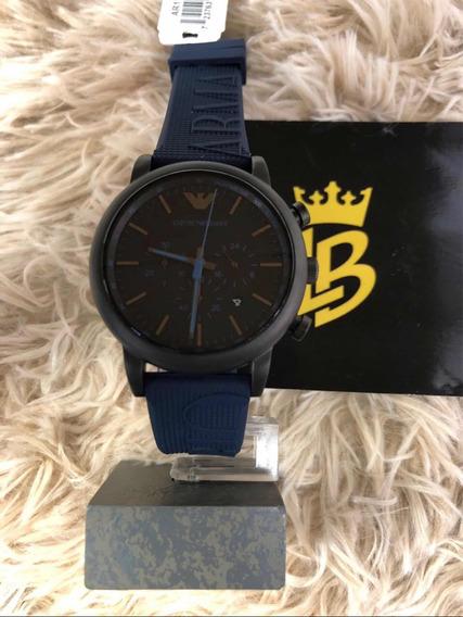 Relógio Unissex Ar11033 Azul, Original, Garantia E Caixa