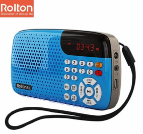 Rádio Receptor Rolton W105 Fm Suporte Cartão Tf Música Mp3