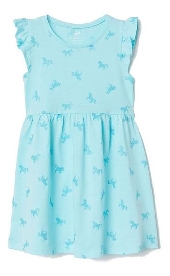 Vestido Nena H&m Algodon Manga Corta Nuevo Importado