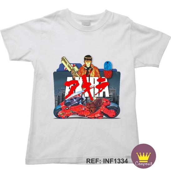Camiseta Infantil Akira Geek Anime 05