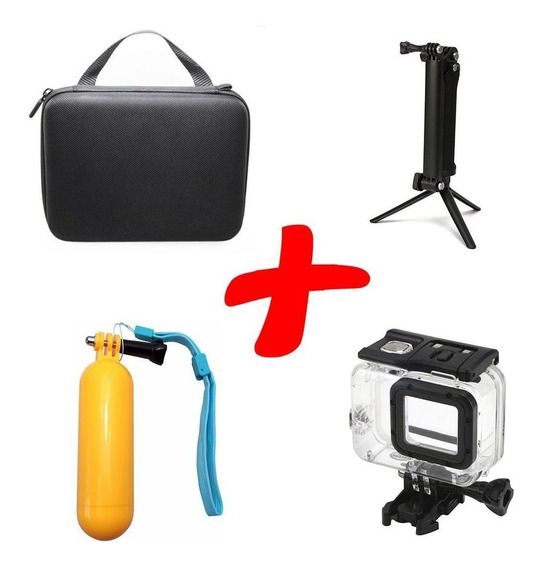 Kit Gopro Maleta, 3way, Estanque Hero7 6 5, Bastão Flutuante