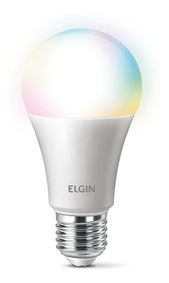 Lampada Inteligente Rgb Wifi Smart Google Alexa Elgin Color