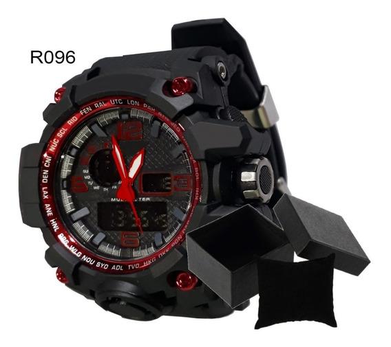 Relógio Militar Para Homens Fortes, Frete Grátis + Caixinha