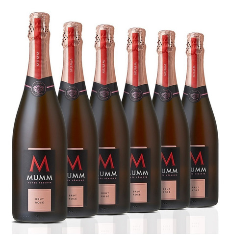 Caja De 6 Botellas Mumm Cuvee Reserve Brut Rosé 750 Ml
