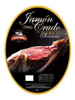 Pata De Jamón Crudo T/ Iberico + Prensa Y Cuchillo Jamonero!