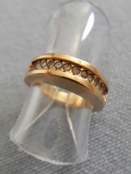 Anel Meia Aliança Ouro. 13 Diamantes 3.7gramas Aro9 8fotos