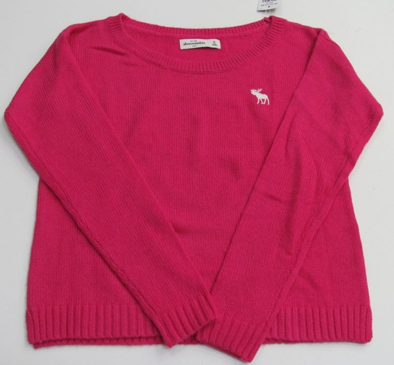 Blusa De Lã Kids Girl Abercrombie - Rosa Ou Pink Original!