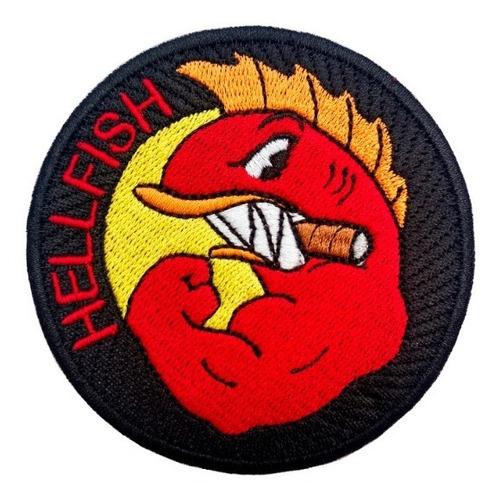 Parche Bordado Hellfish Med Los Simpsons Peces Del Infierno