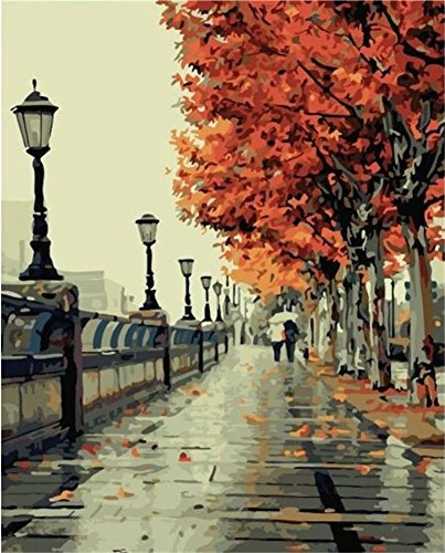 Diy Pintura Al Óleo, Pintura Por Número Kit- Amor Romántico