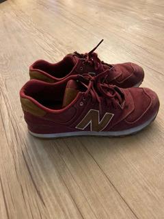 Zapatillas New Balance Lifestyle Bordo Talle 42 O 8,5 (usa)