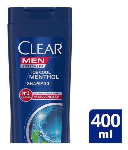 Imagem 1 de 6 de Shampoo Anticaspa Men Ice Cool Menthol 400ml Clear