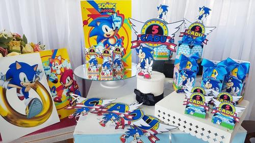 Imagem 1 de 8 de Kit Festa Em Casa Sonic