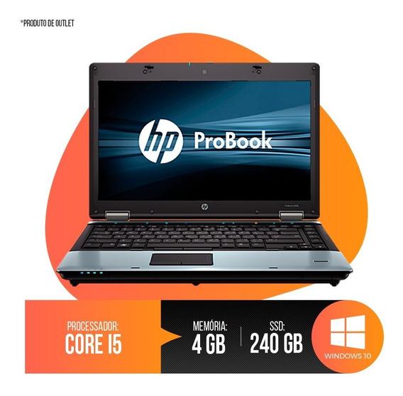 Notebook Hp Probook Intel Core I5, 4gb Ddr3, Hd Ssd 240gb 1ª