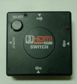Splitter Switch Hdmi 1080p 3 Puertos Para Hdtv Dvd Ps3
