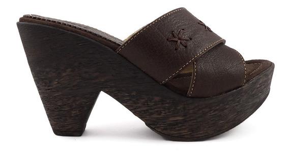 Zapatos Mujer Zuecos Tira Cruzada Crespo Liquidación