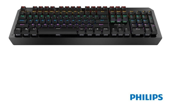 Teclado Mecanico Gamer Usb Led Rgb Luminoso Philips Spk8413