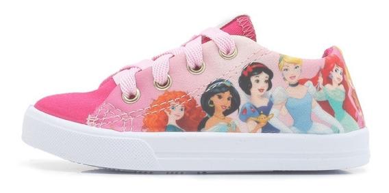 Tênis Princesas Rosa Diversão Menina Disney Infantil 24 06
