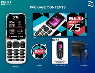 Blu Z5 Dual Sim 32 Mb, Branco, Radio Fm, Mp3, Anatel, Idoso